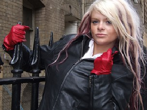 Girls-in-leather-jacket