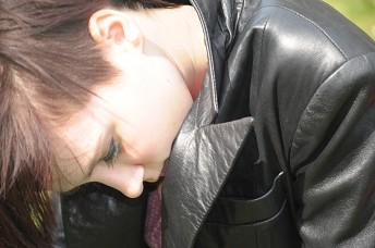 Girl-leather-jacket