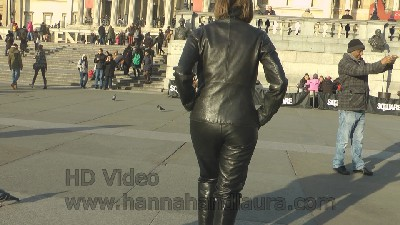 Walking-in-girls-leather-pants-and-leather-boots
