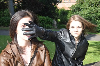 Girl-leather-gloves-mouth